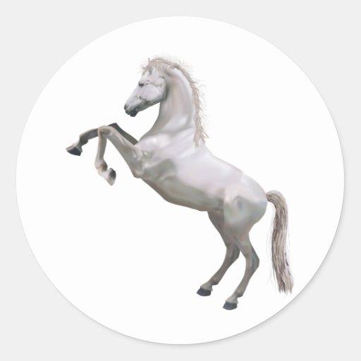 Alzar el caballo etiqueta