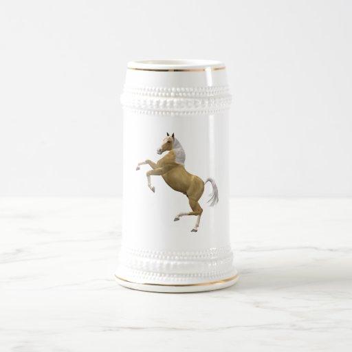 Alzar el caballo jarra de cerveza