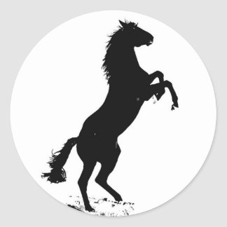 Alzar el caballo pegatina redonda