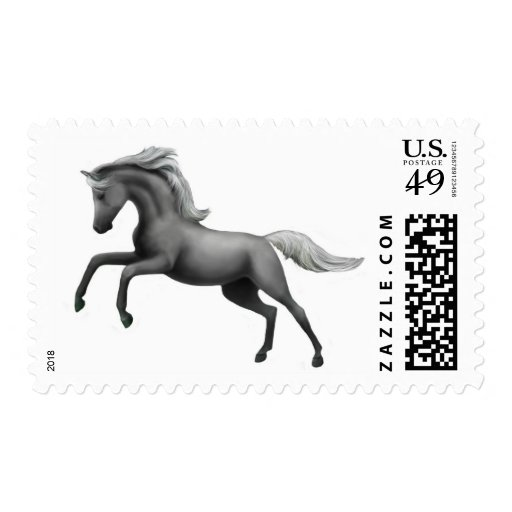 Alzar franqueo gris del semental sello postal
