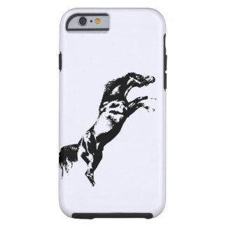Alzar la caja dura del iPhone 6 del caballo Funda De iPhone 6 Tough
