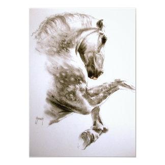 Alzar la invitación del caballo invitación 12,7 x 17,8 cm