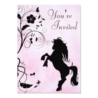 Alzar la invitación del cumpleaños del caballo invitación 12,7 x 17,8 cm