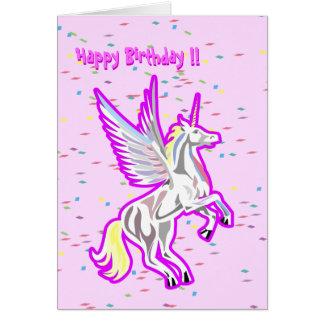 Alzar la tarjeta de cumpleaños del ángel de guarda