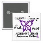 Alzheimer's Disease Celtic Butterfly 3 Button