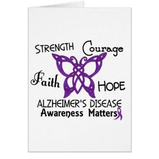 Alzheimer's Disease Celtic Butterfly 3 Card