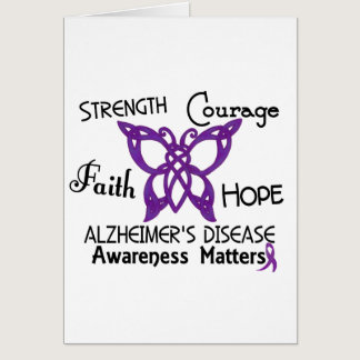 Alzheimer's Disease Celtic Butterfly 3 Card