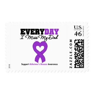 Alzheimer s Disease Every Day I Miss My Dad Postage Stamp