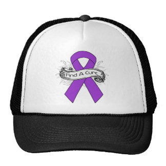 Alzheimer's Disease Find A Cure Ribbon Hats