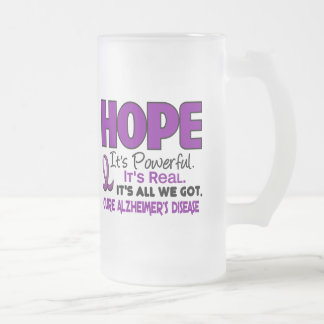 Alzheimer's Disease HOPE 1 16 Oz Frosted Glass Beer Mug