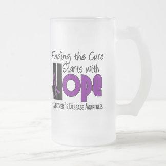 Alzheimer's Disease HOPE 4 16 Oz Frosted Glass Beer Mug