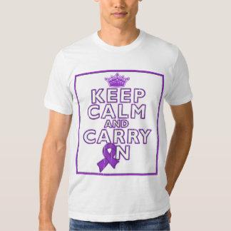 Alzheimer's Disease Keep Calm and Carry ON Shirt