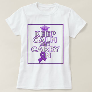 Alzheimer's Disease Keep Calm and Carry ON T Shirts