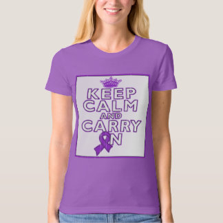 Alzheimer's Disease Keep Calm and Carry ON T-shirts