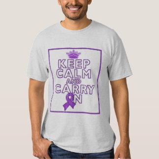 Alzheimer's Disease Keep Calm and Carry ON Tees