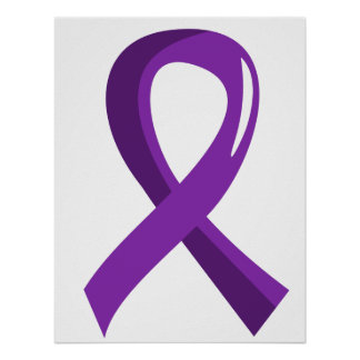 Alzheimer s Disease Purple Ribbon 3 Poster
