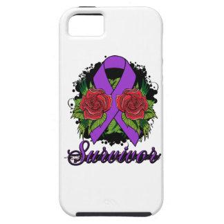 Alzheimer's Disease Survivor Rose Grunge Tattoo iPhone 5 Cases