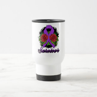 Alzheimer's Disease Survivor Rose Grunge Tattoo Coffee Mug