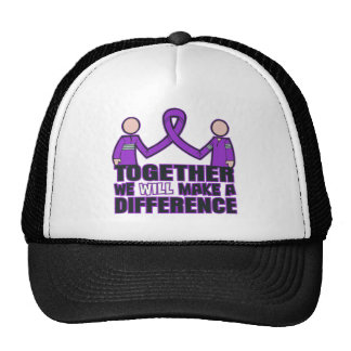 Alzheimer's Disease Together We Will Make A Differ Mesh Hat