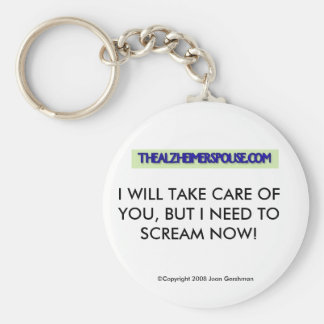 Alzheimer Spouse Key Chain - Humor