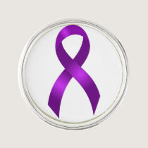 Alzheimers and Crohns & Colitis Purple Ribbon Pin