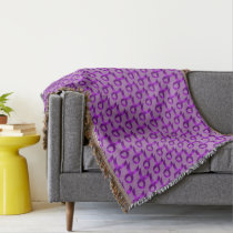 Alzheimers and Crohns & Colitis Purple Ribbon Throw Blanket