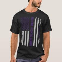 Alzheimer's Awareness American Flag T-Shirt Gift