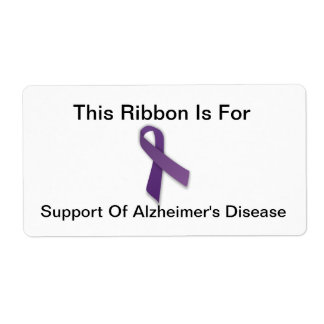 Alzheimer's Awareness - Avery Labels