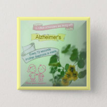 Alzheimers Awareness Button