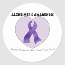 Alzheimer's Awareness Classic Round Sticker