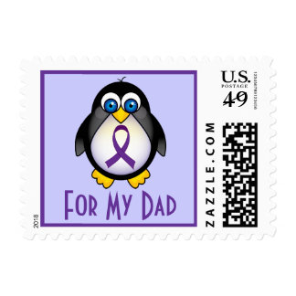 Alzheimers Awareness Dad Penguin Stamps Gift