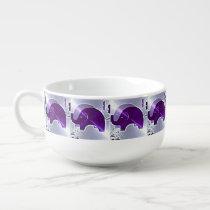 Alzheimer's Awareness Elephants Soup Mug