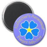 Alzheimer's Awareness forget me not 2 Inch Round Magnet