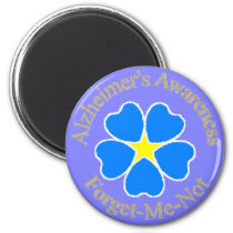 Alzheimer's Awareness forget me not Magnet