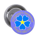 Alzheimer's Awareness Forget me not Ylw Pin