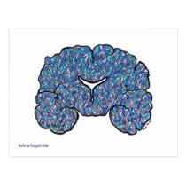 Alzheimer's Awareness Postcard - Blue