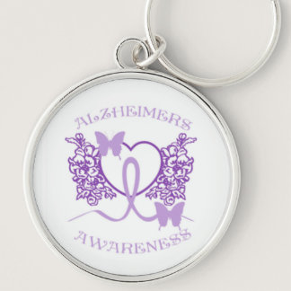 Alzheimers Awareness Purple Butterflies Key Chain4 Keychain