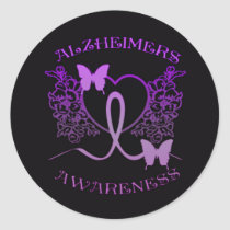 Alzheimers Awareness Purple Butterflies Stickers 2