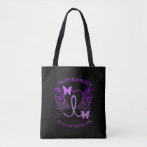 Alzheimers Awareness Purple Butterflies Tote Bag