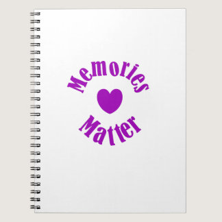 Alzheimers Awareness Purple Ribbon Memories Love Notebook