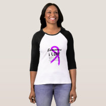 Alzheimers Awareness  Purple Ribbon Support Love T-Shirt