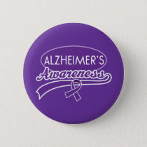 Alzheimer's Awareness Ribbon Pinback Button
