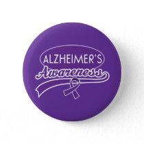 Alzheimer's Awareness Ribbon Pinback Button