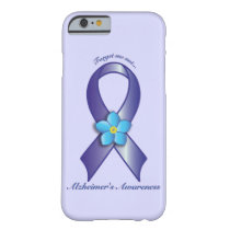 Alzheimer's Awareness Ribbon with Forget Me Not Barely There iPhone 6 Case