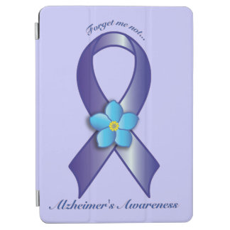 Alzheimer's Awareness Ribbon with Forget Me Not iPad Air Cover