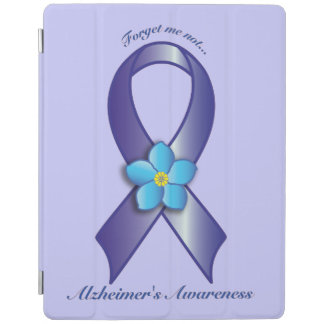 Alzheimer's Awareness Ribbon with Forget Me Not iPad Smart Cover