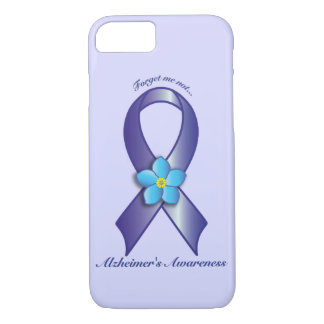 Alzheimer's Awareness Ribbon with Forget Me Not iPhone 7 Case