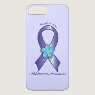Alzheimer's Awareness Ribbon with Forget Me Not iPhone 7 Plus Case