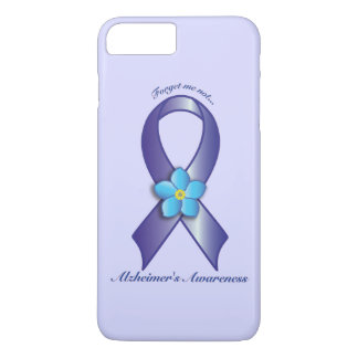 Alzheimer's Awareness Ribbon with Forget Me Not iPhone 8 Plus/7 Plus Case