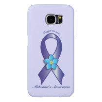 Alzheimer's Awareness Ribbon with Forget Me Not Samsung Galaxy S6 Case